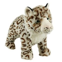 Animal Instincts Sophia Snow Leopard Plush Dog Toy