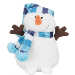 Christmas Snowman Plush Dog Toy