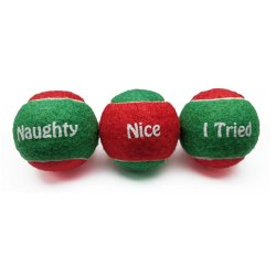 SportsPet 3-Pack Festive Tennis Balls for Dogs