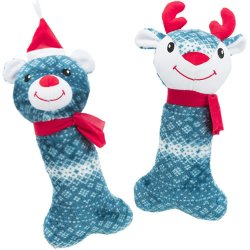 Trixie Plush Xmas Bone toys for Dogs