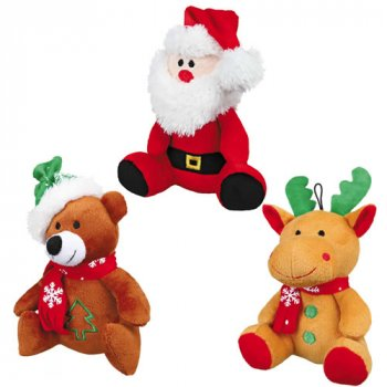 Trixie Plush Christmas Character Dog Toys