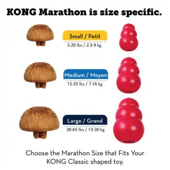Three sizes of KONG Marathon Treat for Dogs