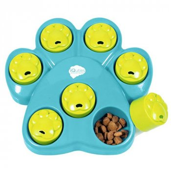 Hide treats in the iQuities Paw Hide Puzzle Toy