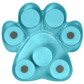 The iQuties Paw Hide Puzzle Pet Toy has rubber feet
