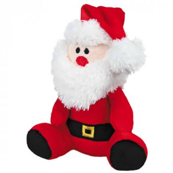 Trixie Plush Christmas Santa Dog Toy