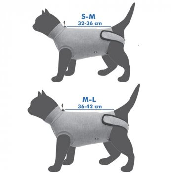 Measuring for a Trixie Protective Body Suit for Cats