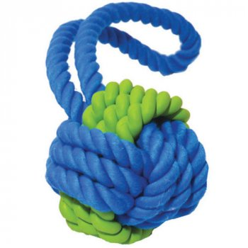 Tough Twist Dog Toy combines rope and rubber