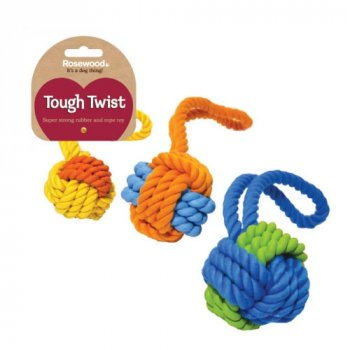 Tough Twist Rubber and Rope Dog Toy