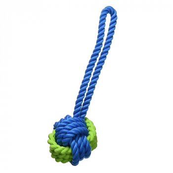 Tough Twist Dog Toy with handle for easier throwing